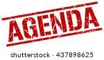 agenda stamp.stamp.sign.agenda. | Shutterstock .eps vector #437898625