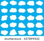 cloud vector. cloud icon vector | Shutterstock .eps vector #437899432