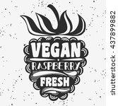 vegan typographic print with... | Shutterstock . vector #437899882