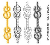 rope knots and loops in... | Shutterstock .eps vector #437910292