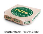 Cardboard Pizza Box Isolated On ...