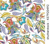 india seamless paisley pattern. ... | Shutterstock .eps vector #437920492