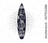 surfing related summer... | Shutterstock .eps vector #437921086
