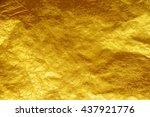 gold foil texture background   Shutterstock . vector #437921776