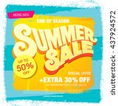summer sale template banner | Shutterstock .eps vector #437924572
