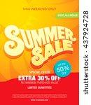 summer sale template banner | Shutterstock .eps vector #437924728