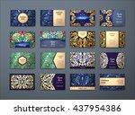 vector vintage business cards...