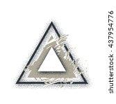 triangle illustration. vector... | Shutterstock .eps vector #437954776