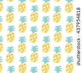 pineapple color pattern | Shutterstock .eps vector #437954818