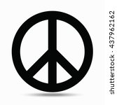 symbols pacifism. illustration... | Shutterstock .eps vector #437962162