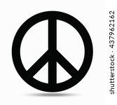symbols pacifism. illustration... | Shutterstock .eps vector #437962162