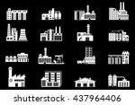 set of industry manufactory... | Shutterstock .eps vector #437964406