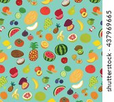 fruits graphic vector color... | Shutterstock .eps vector #437969665