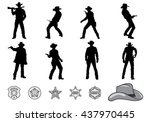 Silhouettes Of Western Cowboys...