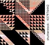 cute vector geometric seamless... | Shutterstock .eps vector #437976442