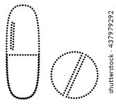 medical pills sign | Shutterstock .eps vector #437979292