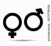 symbols of male and female.... | Shutterstock .eps vector #437979436
