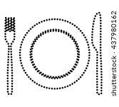 fork  tape and knife sign | Shutterstock .eps vector #437980162