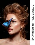 exotic butterfly. beautiful... | Shutterstock . vector #437980672