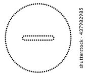 negative symbol illustration | Shutterstock .eps vector #437982985