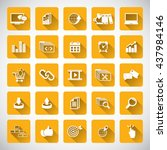 set of seo and development icons | Shutterstock .eps vector #437984146