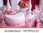 Dessert Table  Pink Wedding Cake