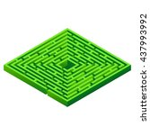 maze isolated on white...   Shutterstock .eps vector #437993992
