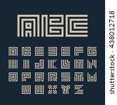 maze font. geometric vector... | Shutterstock .eps vector #438012718