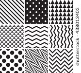 collection seamless backgrounds ... | Shutterstock .eps vector #438013402