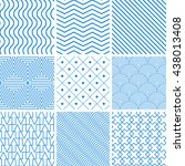 collection seamless backgrounds ... | Shutterstock .eps vector #438013408