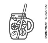 smoothie detox icon. vector...   Shutterstock .eps vector #438020722