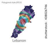 lebanon map in geometric... | Shutterstock .eps vector #438026746