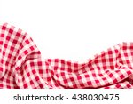 Red Tablecloth On White...