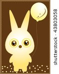funny cute bunny with ball | Shutterstock .eps vector #43803058