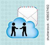 cloud computing  design  | Shutterstock .eps vector #438037402