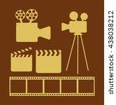 cinema entertainment design  | Shutterstock .eps vector #438038212