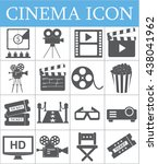 movie icons set.cinema icon set.... | Shutterstock .eps vector #438041962