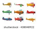 set of  nine flat vector...   Shutterstock .eps vector #438048922
