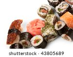 different types of sushi | Shutterstock . vector #43805689
