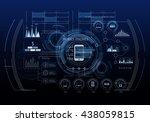 media business background | Shutterstock . vector #438059815