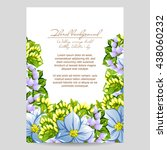 vintage delicate invitation... | Shutterstock .eps vector #438060232