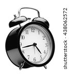 black alarm clock isolated on... | Shutterstock . vector #438062572