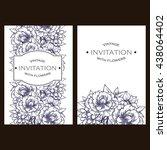 romantic invitation. wedding ...   Shutterstock .eps vector #438064402