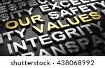 3d illustration over black... | Shutterstock . vector #438068992