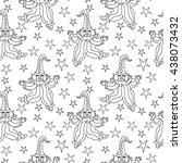 clown  and stars seamless... | Shutterstock . vector #438073432