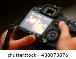 behind camera view image | Shutterstock . vector #438073876