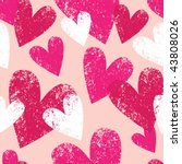 pink seamless pattern with... | Shutterstock .eps vector #43808026
