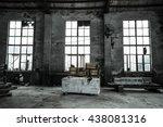 abandoned metallurgical factory ...   Shutterstock . vector #438081316