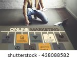 online marketing advertisement... | Shutterstock . vector #438088582