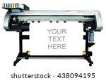 large format ink jet printer ... | Shutterstock . vector #438094195